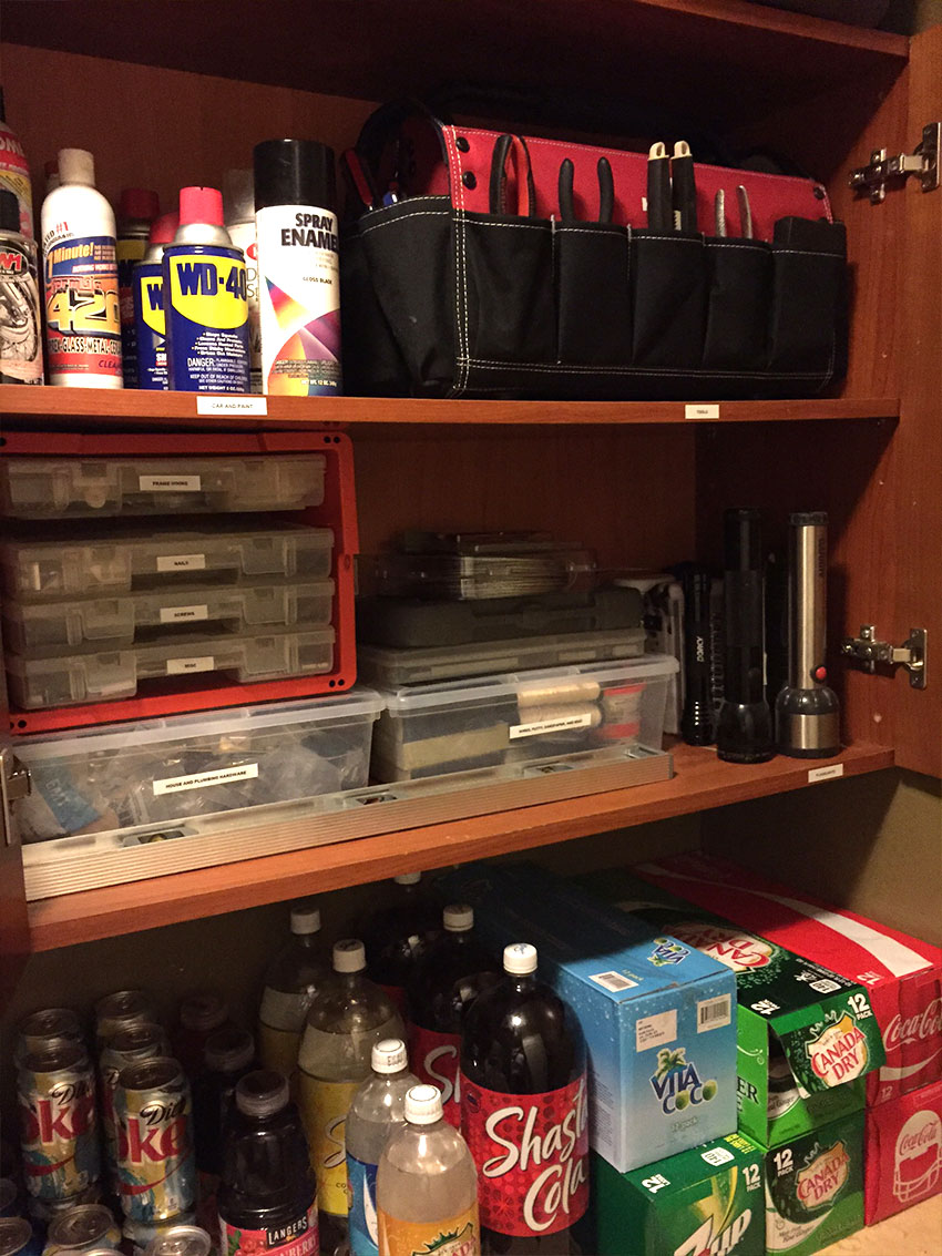 Storage Closet & Tools Organization