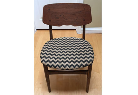 Chevron Fabric Chair